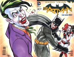 Batman VS Joker Sketch Cover by timshinn73