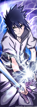 Uchiha Sasuke-My power! by Ssabinka