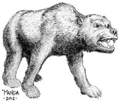 Arctodus simus the Short Faced Bear by Talzhemir1