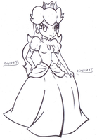 Peachy Princess Peach- lines by Kimeria87