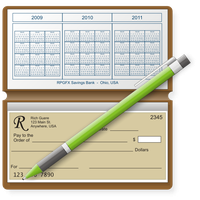 Checkbook Dock Icon by RPGuere