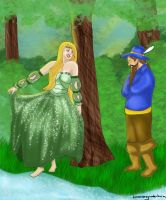 Tom Bombadil and Goldberry by brittanyandalvin