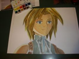 WIP Zidane Watercolors Portrait by 7marichan7