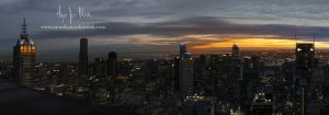 Melbourne Cityscape at Sunset by hopeforalice