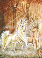 ACEO - Walk With Me by DawnUnicorn