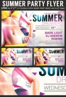 Summer Dreamers Party Flyer Template by Hotpindesigns