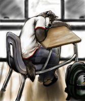Asleep At School Afternoon by osoa-akiondtuade