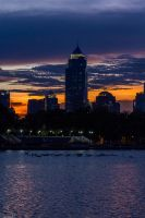 Sunset in Bangkok 3 by VirtualZ