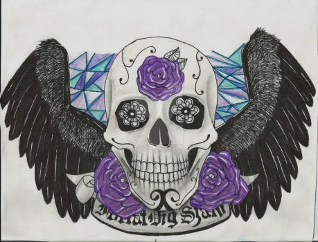 Skull with Wings by ArtistAbstractly