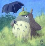 Totoro Portrait by itokyoshoes