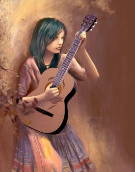 Guitar Girl by Monkato