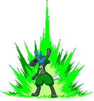 Green Lantern Lucario by SpiderMew