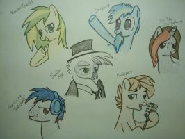 The Mane Six Brony Musicians. by MesophaneGryyn