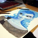 Elsa/Hades crossover pencil drawing Teaser by AtomiccircuS