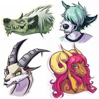 Freebie Heads pt 1 by squeedgemonster