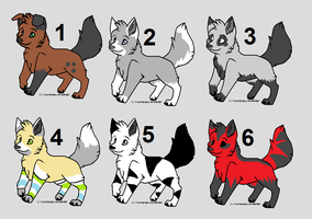 Wolf Pup Adoptables 8 -CLOSED- by AnimalAdoptables