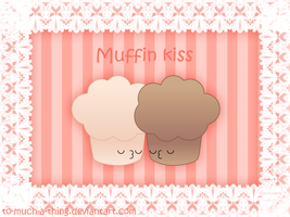 muffin kiss by to-much-a-thing