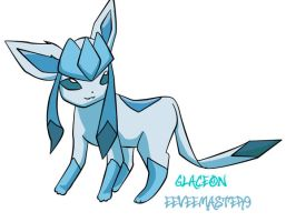 -:Glaceon for Eeveemaster9:- c by silverwolf77