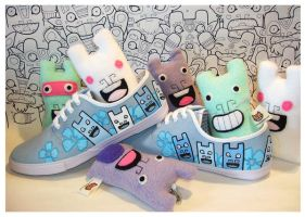Custom CK Shoes by creaturekebab