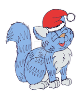 Christmass Kitten by gato303co