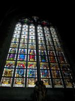 Ghent St. Baafs cathedral Stained glass window 3` by BlokkStox