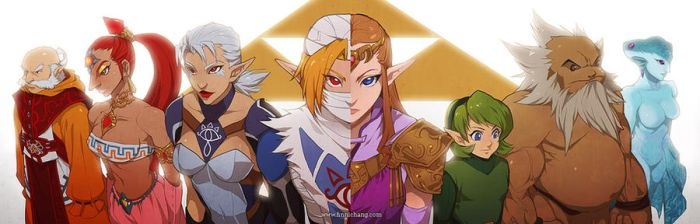 The Seven Sages -- Ocarina of Time by finni