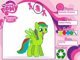 Sweety Greeny Certificate to Equestria by K0MPY