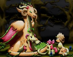 Apple Sisters - Dragons and Ponies by Lactopi