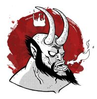 one more Hellboy by Cosmic-Rocket-Man