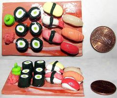 Misc. - small sushi tray by ShiversTheNinja