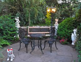 Table, lamp, statue by Tumana-stock