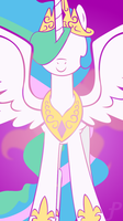 Princess Celestia stencil iphone wallpaper by Amber-Rosin