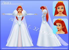Ariel Wedding Dress HP WIP by Adrianbrazt10