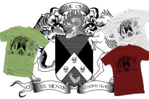 Shirt: Coat of Arms - B+W by GAME-OVER-CUSTOM