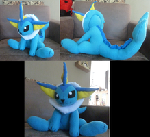 Vaporeon plush by Mirjamp