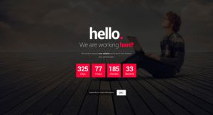 Free Coming Soon HTML Template [PSD Included] by web20donkey