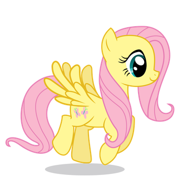 Fluttershy Hovering by 90Sigma