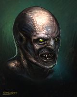 Lizard man head concept by KhezuG