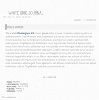 White Grid Journal Skin by extraordi-mary