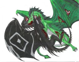 Fight of the Dragons by IvoryDraco