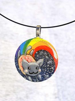 Nyan Cat Pendant Necklace by sobeyondthis