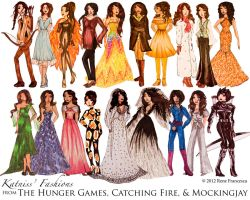 Katniss' Hunger Games (Trilogy) Fashion by strawberryrfp