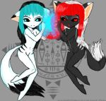 Cyan and Red ..:STRIKE READY by AomiArmster