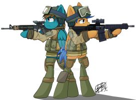 Commission : Two Soldiers by Yunguy1