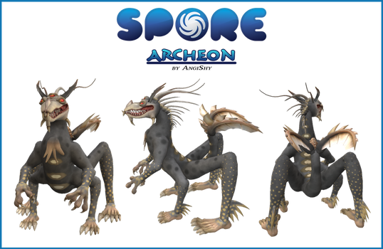 Spore custom creature download - Archeon by Angi-Shy
