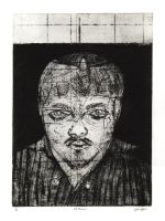 Self Portrait Print by e-raser