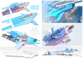 JAG-6 Hyabusa by Pixel-pencil