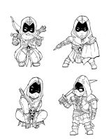 Assassin`s Creed Chibis by xpibx
