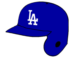 Los Angeles Dodgers Batting Helmet by Chenglor55