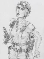 Femme Ranger with Colt by chewjfsh